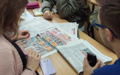 Warsztaty dziennikarskie w klasie 3A